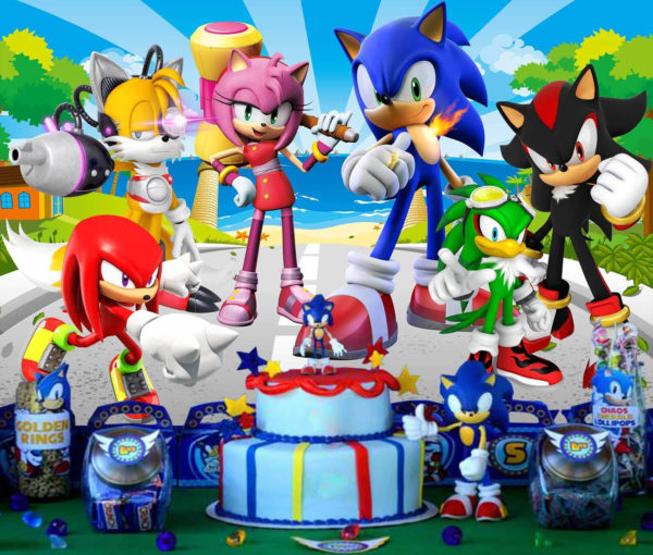 animation anniversaire sonic