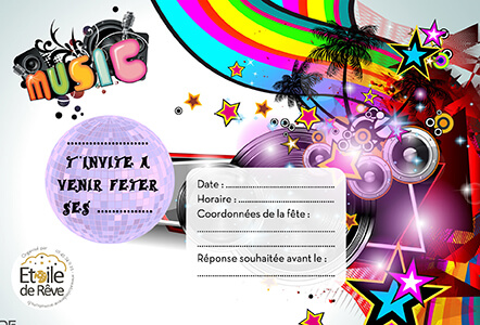 Cartons Invitation Etoile De Reve Animations