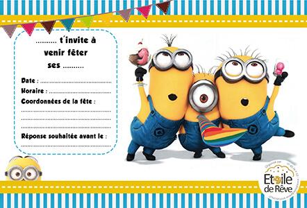 carton-invitation-Minion-Etoile-de-Reve