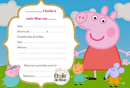 carton-invitation-Peppa-pig-Etoile-de-Reve