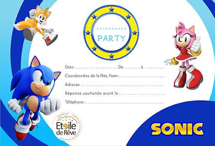 Carton invitation Sonic